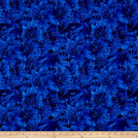 Timeless Treasures Bohemian Blues Daisy Cobalt