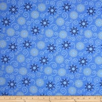 Timeless Treasures Bohemian Blues Small Medallions Azure