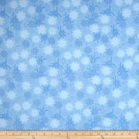 Timeless Treasures Bohemian Blues Small Snowflakes Rain