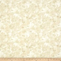 Timeless Treasures Bohemian Blues Daisy Beige