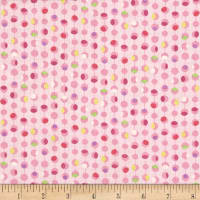 Timeless Treasures Island Breeze Dot Geo Pink