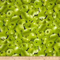Timeless Treasures Farm Stand Green Apples Green