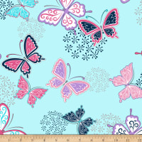Shannon Minky Cuddle Butterfly Wings Cuddle Navy