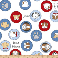 Shannon Sweet Melody Designs Minky Cuddle Must Love Dogs Bluebell