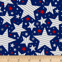 Brave & Free Striped Stars Navy