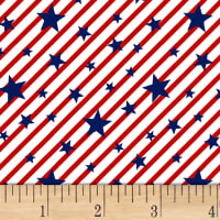Brave & Free Stars & Stripes White