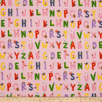 Heather Ross Kinder Alphabet Pink
