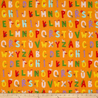 Heather Ross Kinder Alphabet Orange