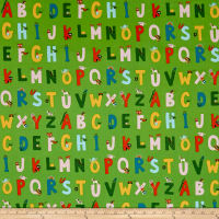 Heather Ross Kinder Alphabet Green