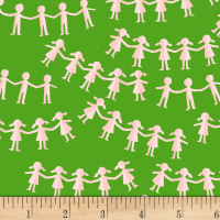 Heather Ross Kinder Paper Dolls Green