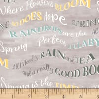 Smitten With Spring Words Grey