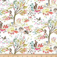 Enchanted Forest  Shady Meadow Toile White