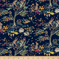 Enchanted Forest  Shady Meadow Toile Navy