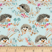 Enchanted Forest  Happy Hedgehogs Aqua