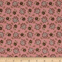 Madeline  C.1880-1891 Tossed Floral Raspberry