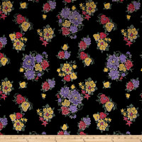 Telio Essence Pique Knit Floral Black