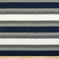 Telio Hamilton Jacquard Knit Stripe Denim Grey Ivory