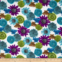 Makers Home Multi Flower Turquoise