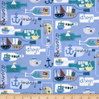 Seaside Message In A Bottle Periwinkle