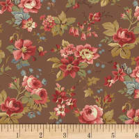 Larisa C.1870  Floral Brown