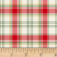 Deck The Halls Plaid Metallic Cream