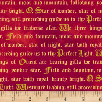 Three Kings Words Metallic Ruby