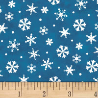 Winter Wishes Snowflakes Deep Blue