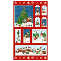 "Winter Wishes 24"" Panel Multi"