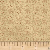 Farmhouse Living  Dotted Floral Red