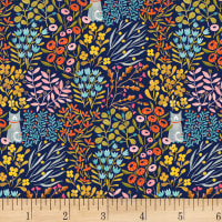 Paint The Town  Cat In Flowers Navy