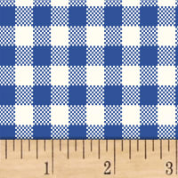 Sugar Sack Gingham Check Blue