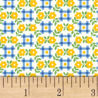 Sugar Sack Gingham Floral Yellow
