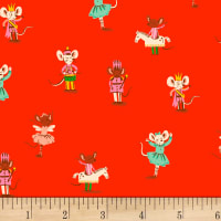Sugarplum Nutcracker Mice Flannel Red