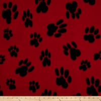 Polar Fleece Big Paw Red