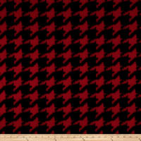 Polar Fleece Houndstooth Black/Red