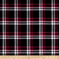 Yarn Dyed Flannel Dan Black/Red/Grey
