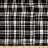Yarn Dyed Flannel Merick Black