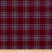 Yarn Dyed Flannel Merick Wine
