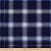 Yarn Dyed Flannel Newport Navy