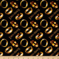 Lord of the Rings Diagonal Rings Black