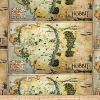 Lord of the Rings Hobbit Map Tan