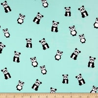 Double Brushed Jersey Knit Panda Mint