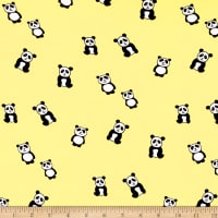 Double Brushed Jersey Knit Panda Yellow