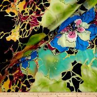 Silk Chiffon Abstract Floral Multi