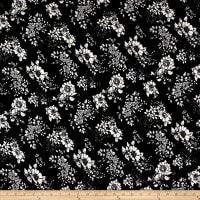 Liverpool Double Knit Floral Black/Ivory
