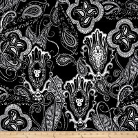 Liverpool Double Knit Abstract Paisley Black/White