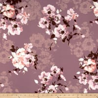 Liverpool Double Knit Luxurious Floral Pink/Mauve