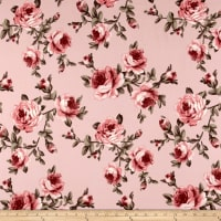 Liverpool Double Knit Roses Pink/Mauve