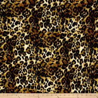 Techno Scuba Knit Leopard Print Black/Brown