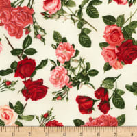 Timeless Treasures Rose Garden Allover Roses Cream